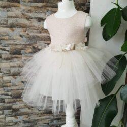 Платье жемчужное с фатином размер 2