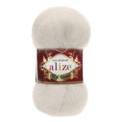 Пряжа Kid Royal Alize - 62 молочный